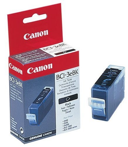 Canon BCI3eBK Black Ink Tank suitable for Canon  BJC3000 BJC6000 S400 S400SP S450 S520 S530D i550  i560 i850 i865 S4500 i6