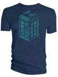 Doctor Who: Green & Blue Art Tardis T-Shirt - Large