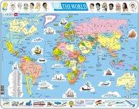 Larsen: Political Map of World - 107 Piece Puzzle