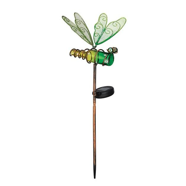 Regal: Mini Solar Dragonfly Stake - Green