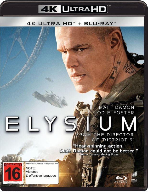 Elysium (4K UHD + Blu-Ray) on UHD Blu-ray