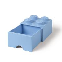 LEGO Storage Brick Drawer 4 (Light Blue)