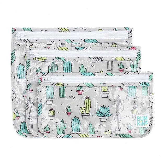 Bumkins: Clear Travel Bag - Cacti (3 Pack)