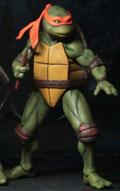 "Teenage Mutant Ninja Turtles: Michelangelo (1990 Ver.) - 7"" Action Figure"