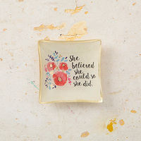 Natural Life: Mini Glass Tray - She Believed