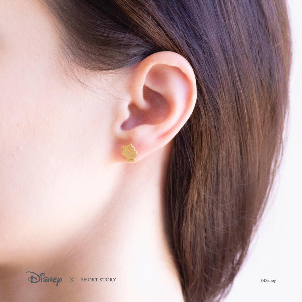 Short Story: Disney Earring Belle Mrs Potts and Chip - Gold image