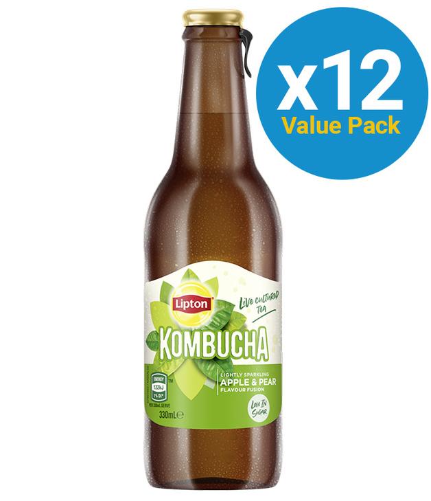Lipton: Kombucha - Apple & Pear (12x330ml)