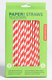 Paper Straws - Red Stripes (144 Box)