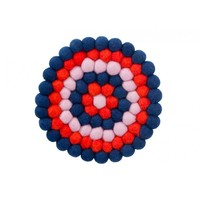 Annabel Trends Felt Trivet - Navy/Red