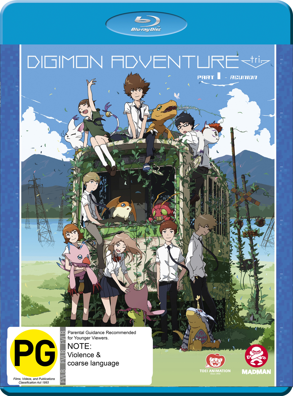 Digimon Adventure Tri. Part 1 - Reunion on Blu-ray image