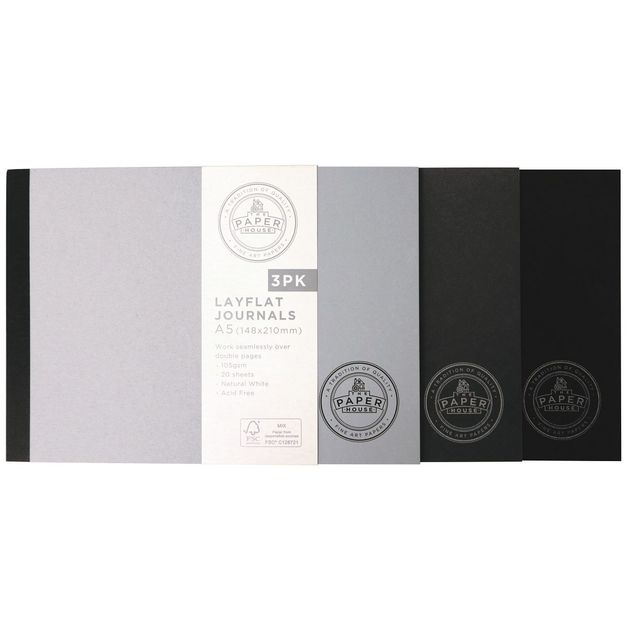 The Paper House: Layflat Journal - A5 Landscape (20 Sheets/Pack 3/105gsm)