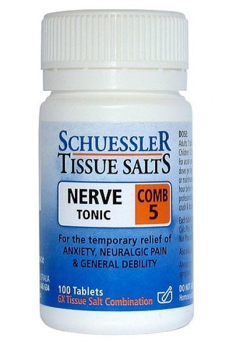 Dr Schuessler Tissue Salts Combination 5 - Nerve Tonic (125 Tablets)