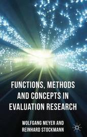 Functions, Methods and Concepts in Evaluation Research by Wolfgang Meyer