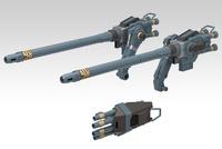 1/72 Gojulas Cannon Set - model Kit image