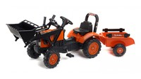 Kubota: M7171 with Front Loader and Trailer image