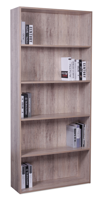 4 Shelf Bookcase - Wood Grain