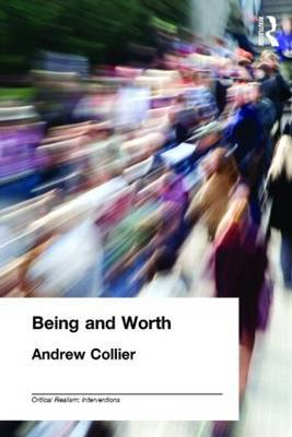 Being and Worth by Andrew Collier image