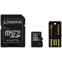 16GB Kingston - MicroSDHC Mobility Kit (Memory Card/SD Adapter/USB reader) (Class 10)