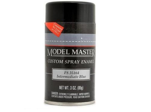 Model Master: Enamel Aerosol - Intermediate Blue (Flat)