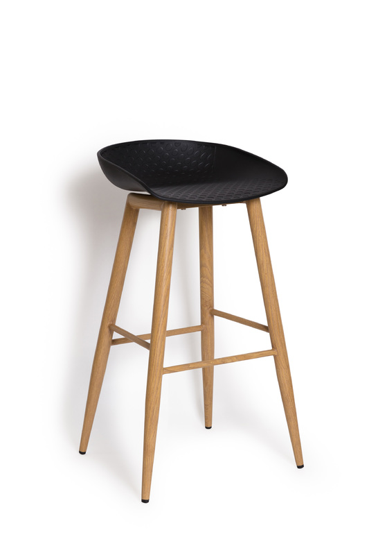 Metal Alpine Bar Stool (Black)