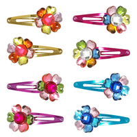 Pink Poppy: Colourful Daisy Hairclips - (Assorted Colours)