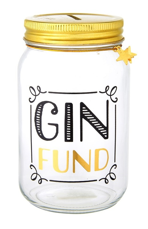 Sass & Belle: Gin Fund - Money Jar (450ml)