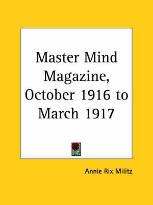 Master Mind Magazine (1916): v. 11 image