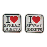 I Love Spreadsheets Cufflinks