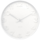 Karlsson Wall Clock - Mr. White: White Case (Small)
