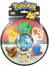Pokemon: Themed Erasers - 7 Piece Set