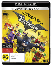 The Lego Batman Movie on Blu-ray, UHD Blu-ray
