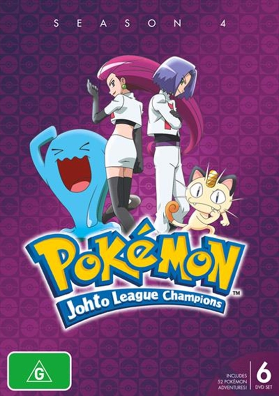 Pokémon® Johto League Champions - Season 4 on DVD