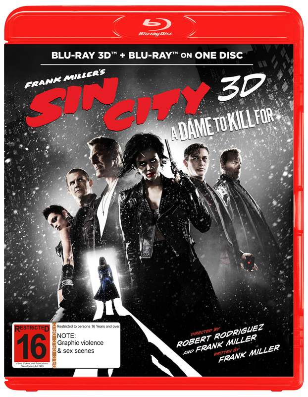 Sin City: A Dame to Kill For on Blu-ray, 3D Blu-ray