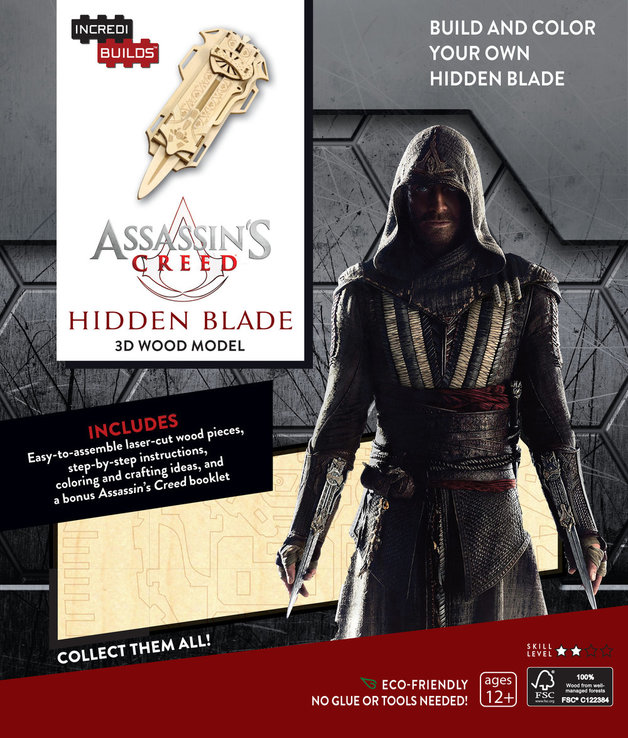 Incredibuilds Assassins Creed 3d Wood Model Hidden Blade Toy