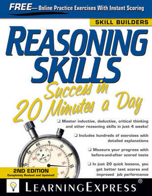 Reasoning Skills Success in 20 Minutes a Day, Third Edition by Learning Express LLC image