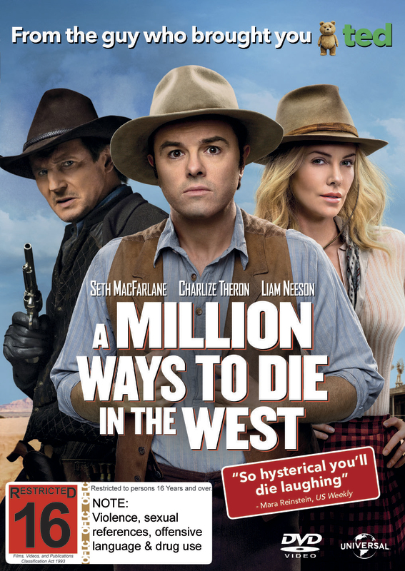 A Million Ways to Die in the West on DVD