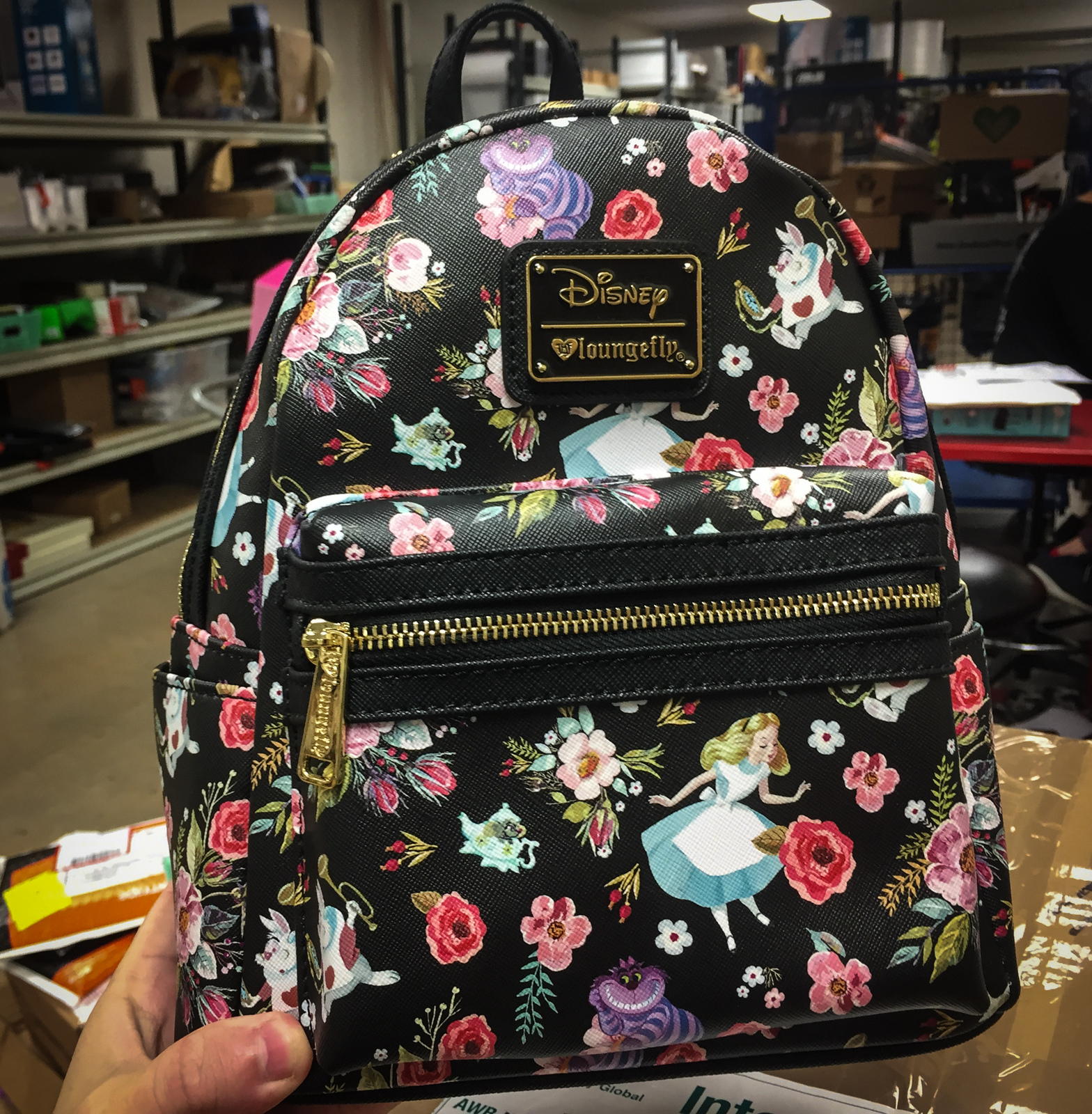 ... Loungefly  Disney Alice Floral Characters - Mini Backpack image 3c917f2d64f23