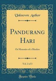 Pandurang Hari, Vol. 2 of 3 by Unknown Author image
