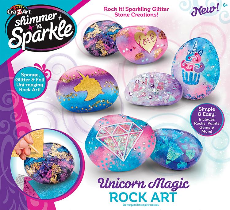 Cra-Z-Art: Shimmer 'n Sparkle - Unicorn Rock Art image
