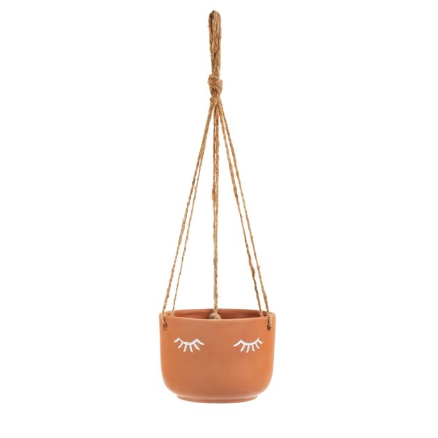 Sass & Belle: Eyes Shut Terracotta Hanging Planter