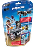 Playmobil: Foil Bag - Black Raider & Cannon (6165)