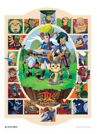 "Jak and Daxter: Heroes vs. Villains (18""x24"") - Art Print"