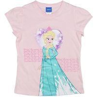 Disney Frozen Elsa Pink T-Shirt (Size 3)