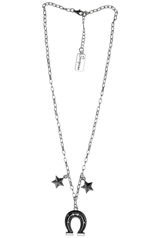 Sourpuss: Horseshoe Charm Necklace