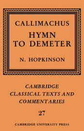 Callimachus: Hymn to Demeter by Callimachus image