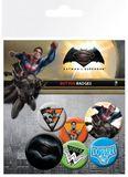 Batman vs Superman: Dawn of Justice Pin Badges (6-Pack)
