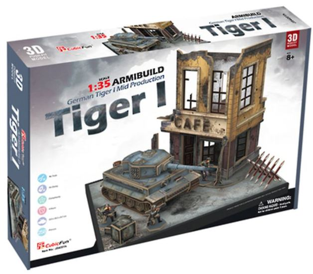 CubicFun: ArmiBuild - German Tiger I Mid Production - 258 Piece 3D Puzzle
