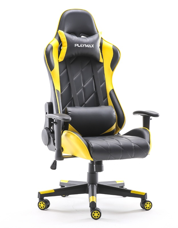 Playmax Elite Gaming Chair - Yellow and Black for