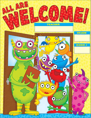 Monsters Welcome Chart by Teacher's Friend
