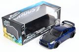 Jada Fast & Furious 7 2009 Nissan GT-R 1:18 Diecast Model